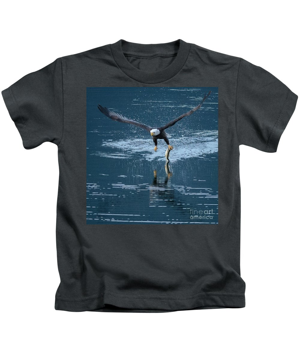 Wildlife Kids T-Shirt featuring the photograph One-armed Bandit by Joy McAdams