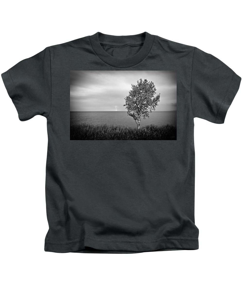Lake Superior Kids T-Shirt featuring the photograph One on One by Doug Gibbons