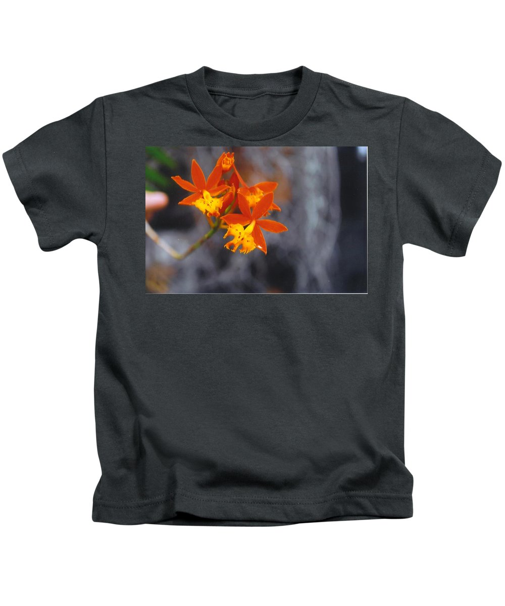 Grown By Me Kids T-Shirt featuring the photograph Orchid Circus by Robert Floyd