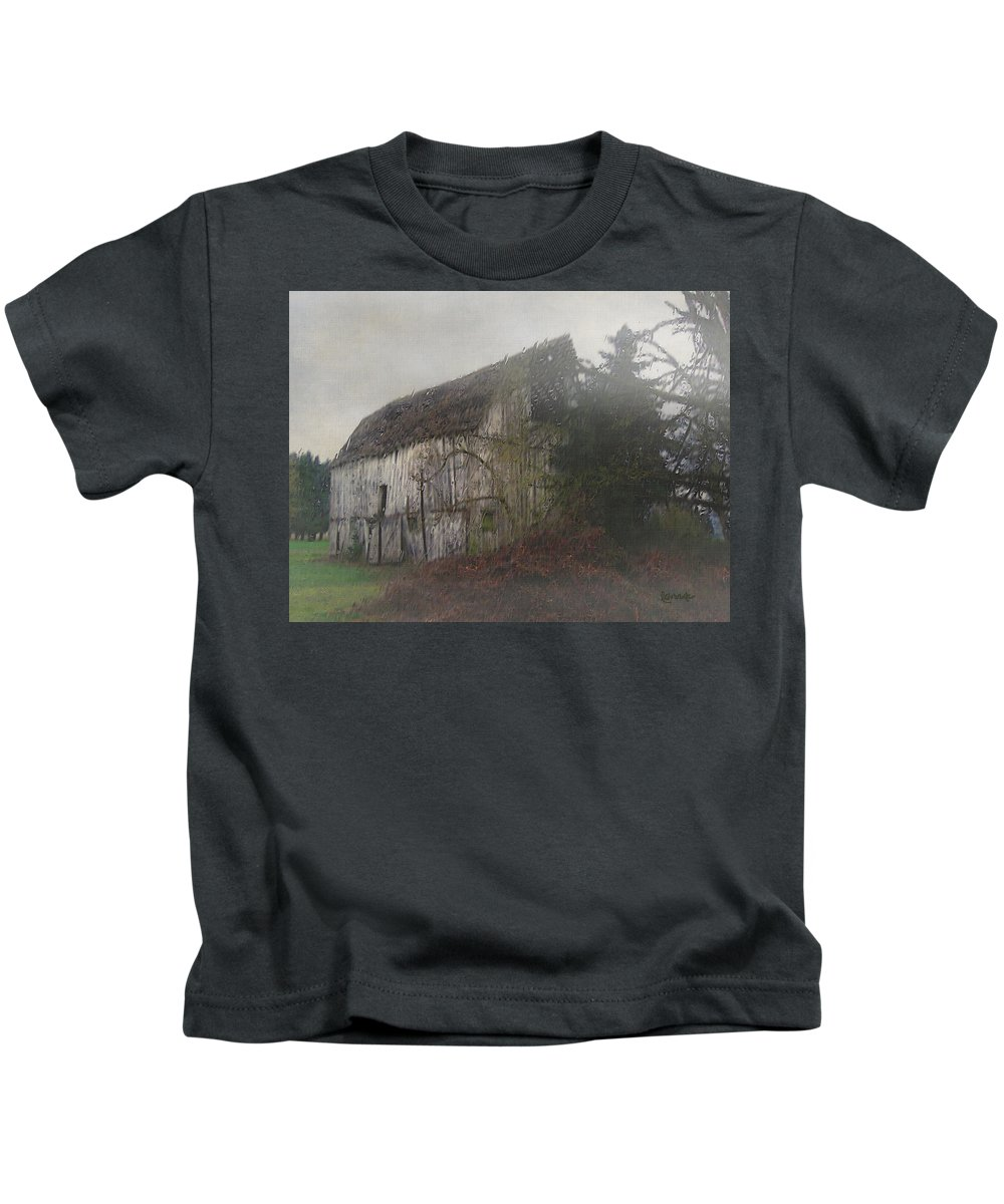 Barn Kids T-Shirt featuring the painting Oregon Relic by RC DeWinter