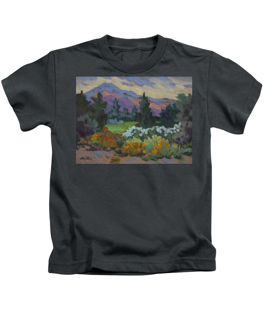 Overcast Light Kids T-Shirt featuring the painting Overcast Light In Santa Barbara by Diane McClary