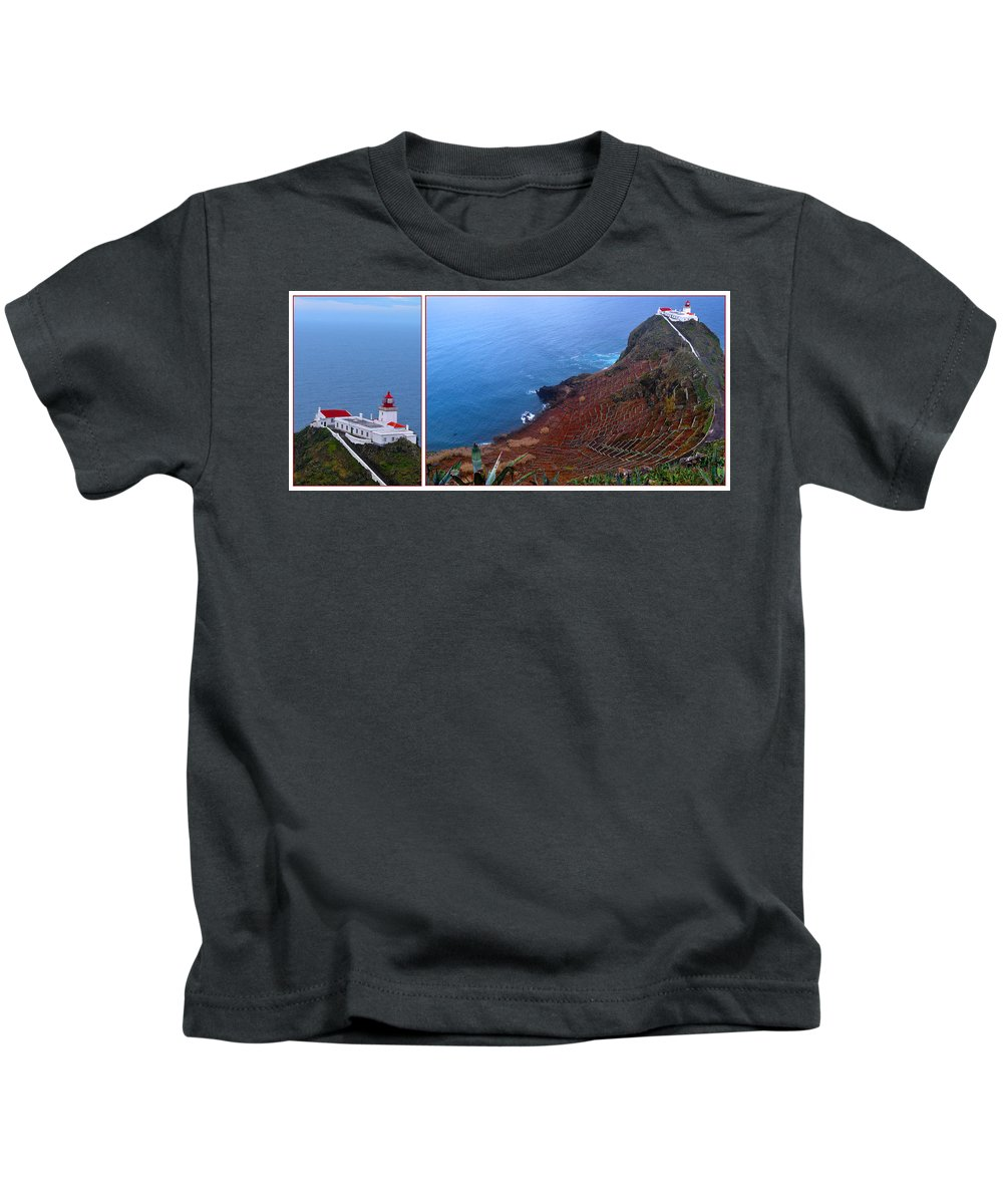 Lighthouse Kids T-Shirt featuring the photograph Overlooking The Atlantic by M Bernardo