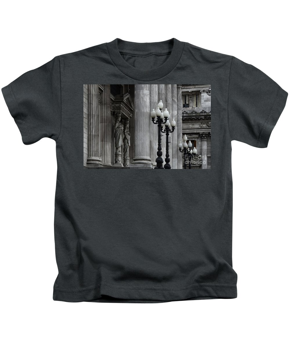 Palacio Del Congreso Kids T-Shirt featuring the photograph Palacio Del Congreso Argentina by Bob Christopher