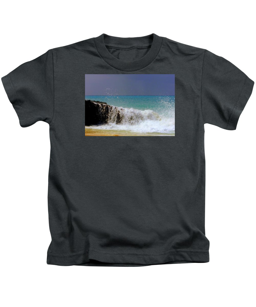 Waterscapes Kids T-Shirt featuring the photograph Palette Of God by Karen Wiles
