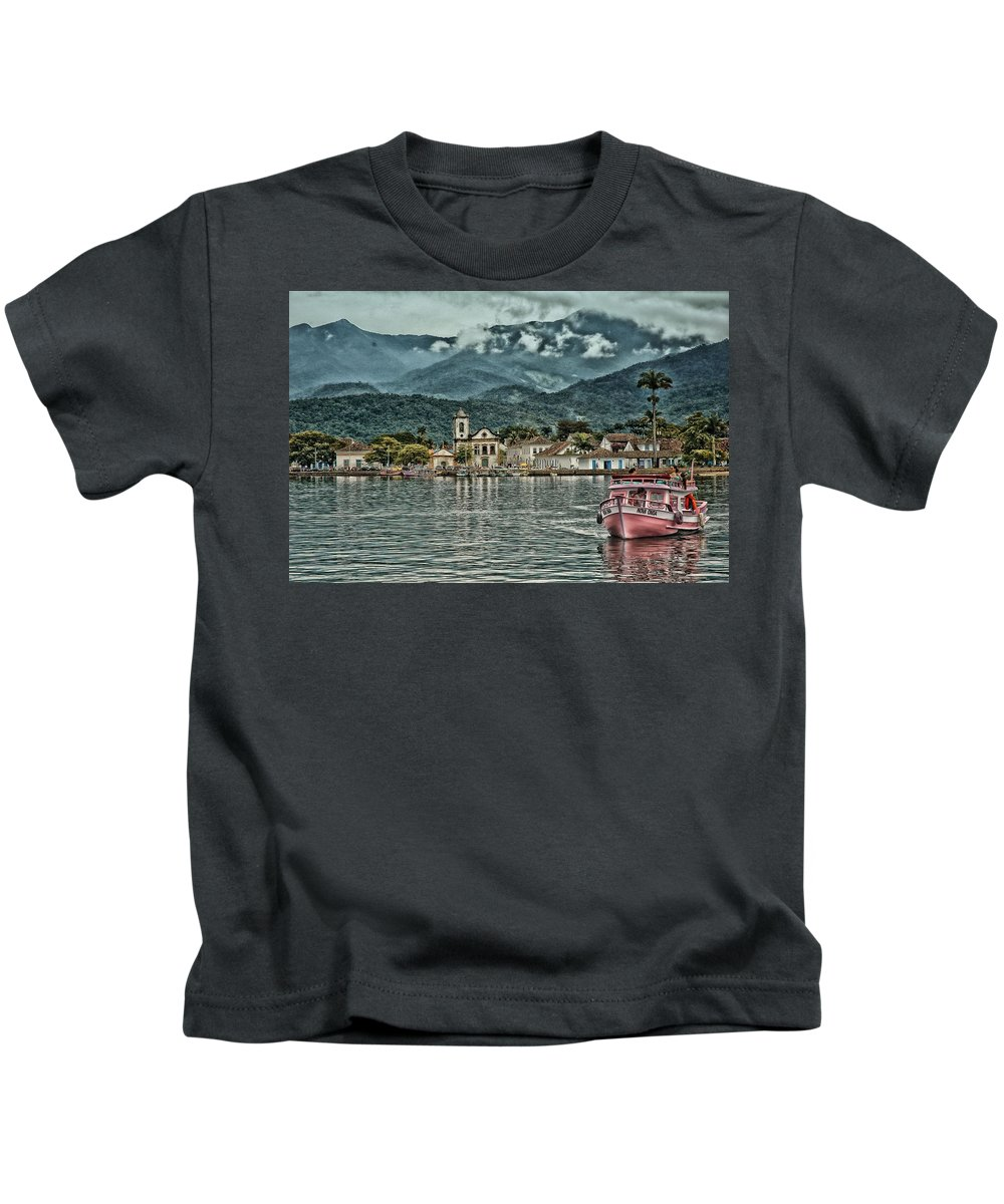 Historic City Kids T-Shirt featuring the photograph Paraty Bay II by Walcir Cardoso Jr