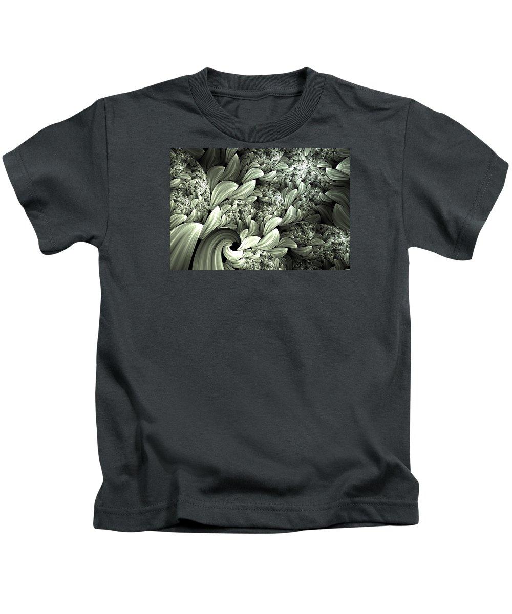 Abstract Kids T-Shirt featuring the digital art Pastel Garden Abstract by Georgiana Romanovna