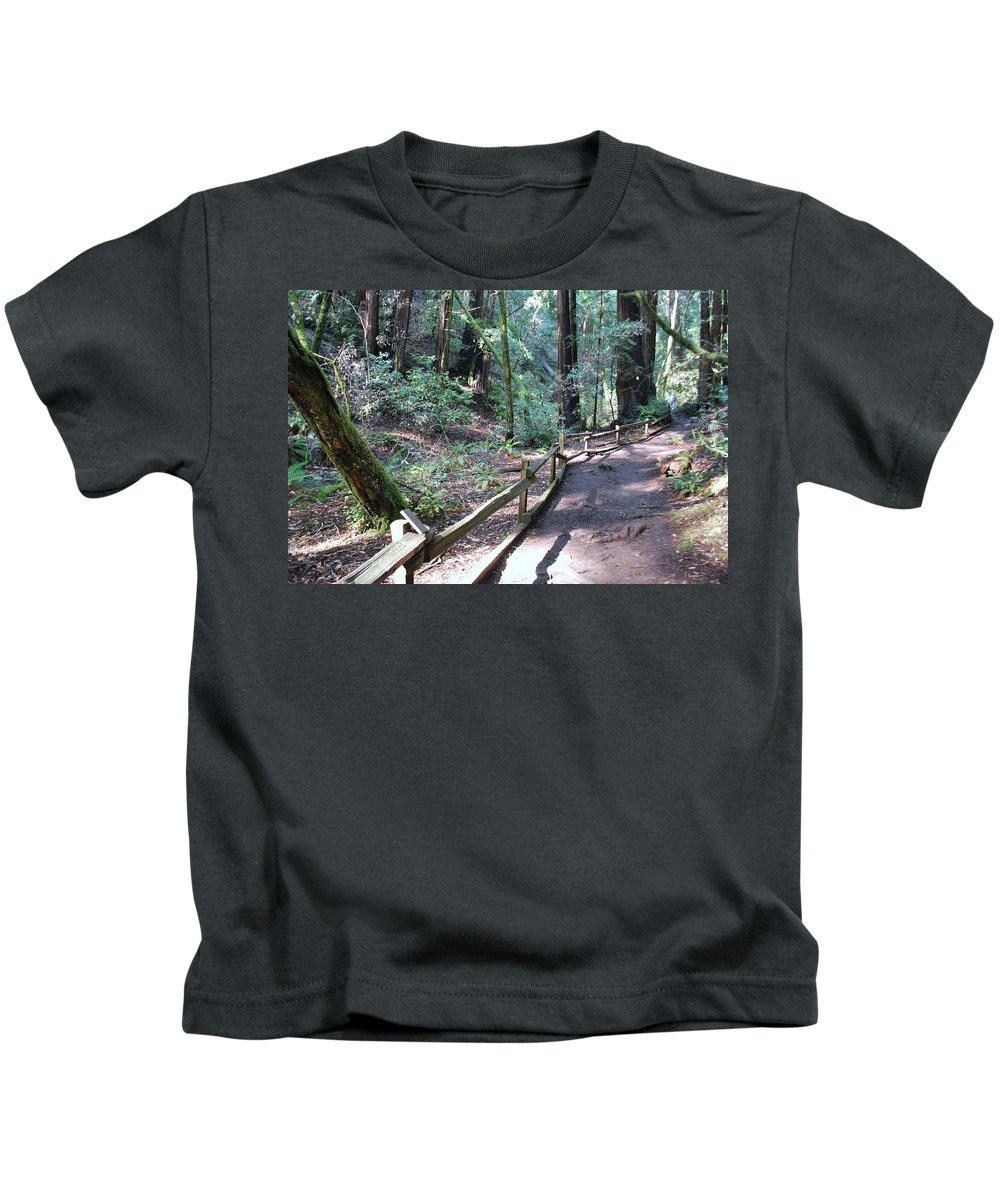 Muir Kids T-Shirt featuring the photograph Pathway by Bradley Bennett