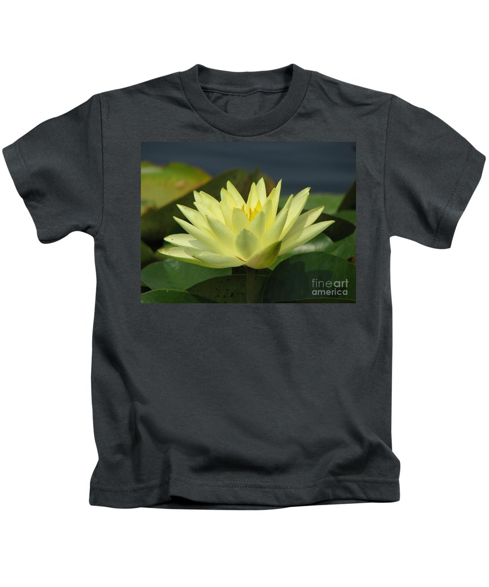 Lillies Kids T-Shirt featuring the photograph Peace by Amanda Barcon