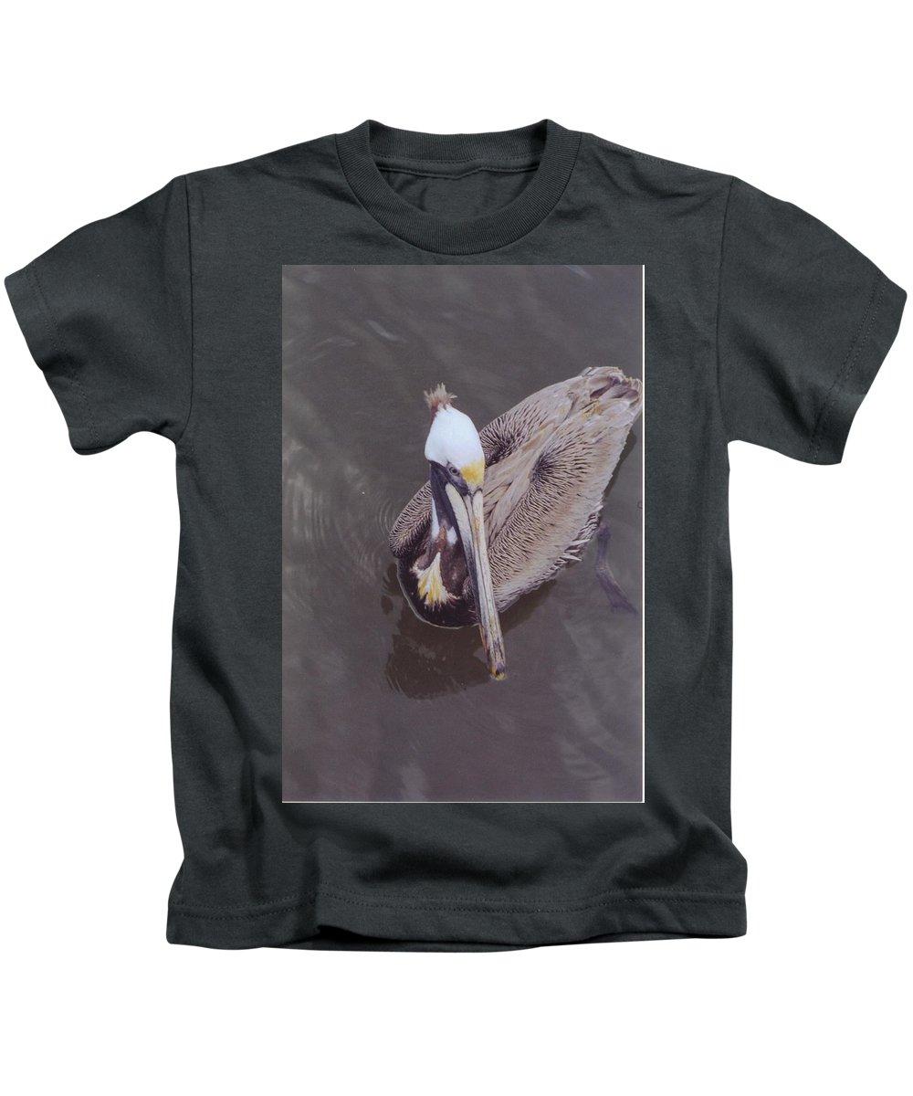 Matlacha Kids T-Shirt featuring the photograph Pelican by Robert Floyd