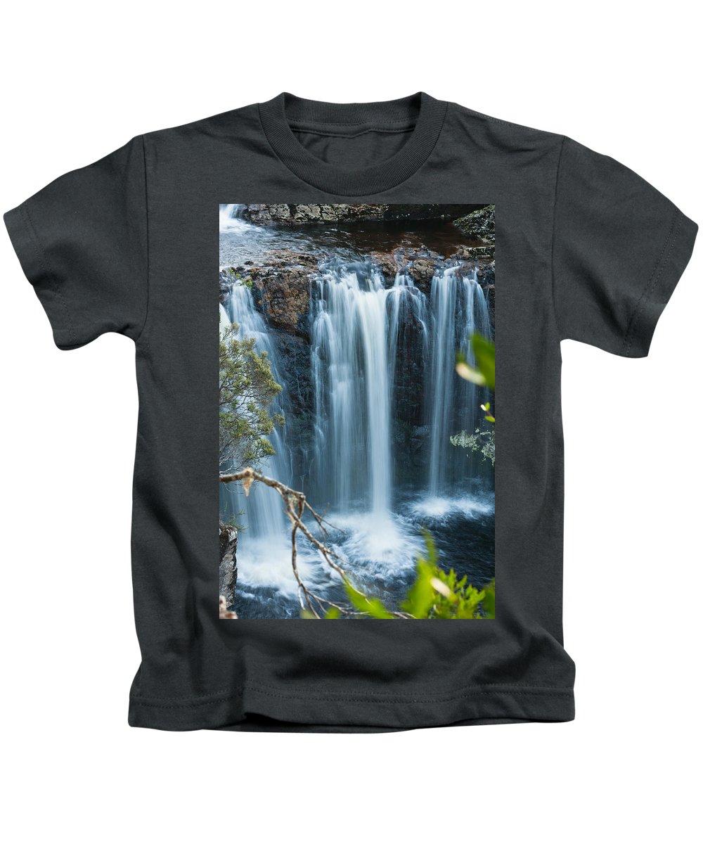 Australia Kids T-Shirt featuring the photograph Pencil Pine Falls Cradle Mountain by U Schade