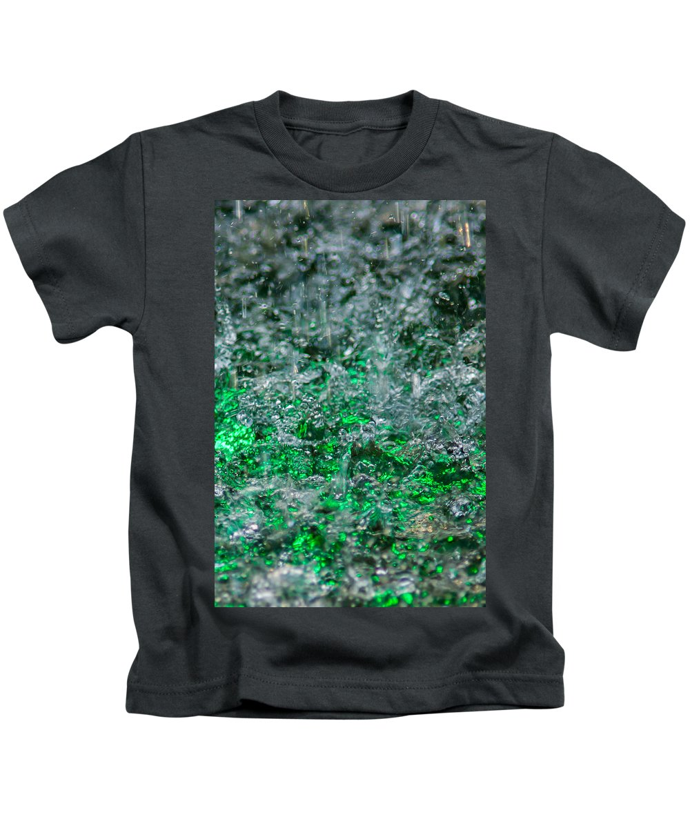 Abstract Kids T-Shirt featuring the photograph Phone Case - Liquid Flame - Green 2 - Featured 2 by Alexander Senin