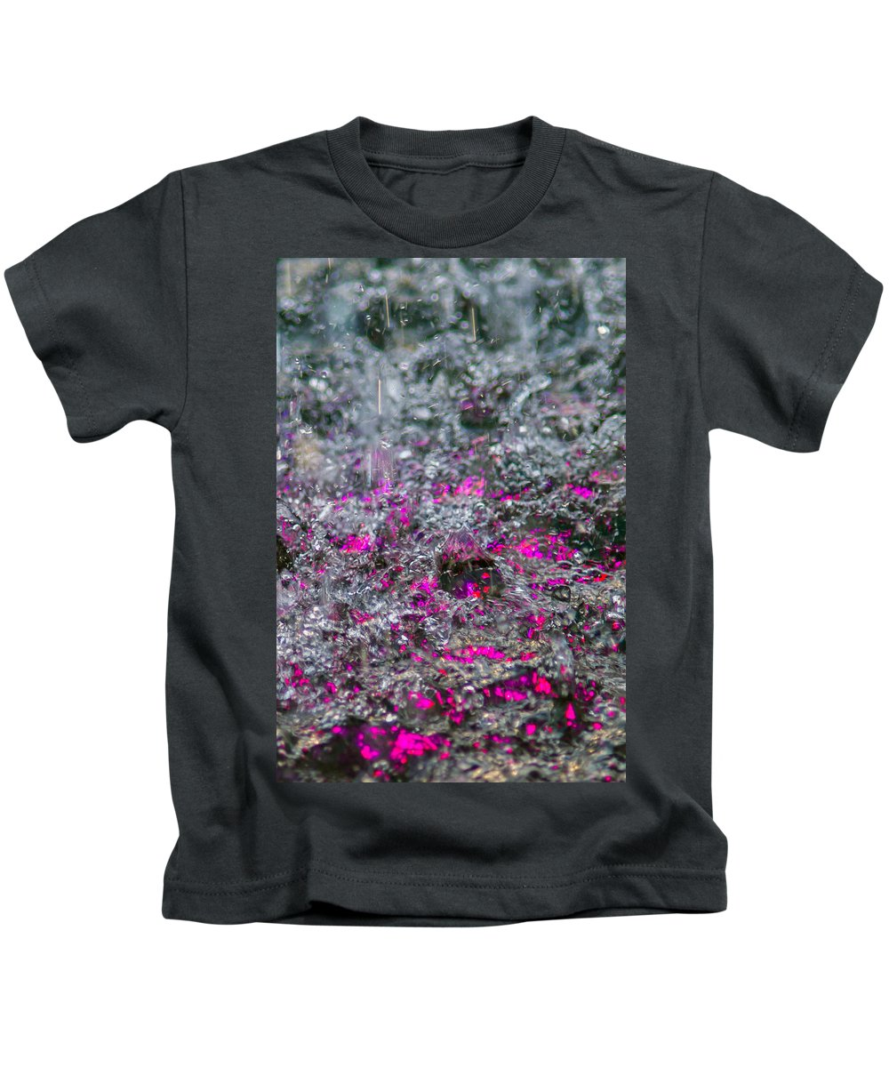 Abstract Kids T-Shirt featuring the photograph Phone Case - Liquid Flame - Violet 2 by Alexander Senin