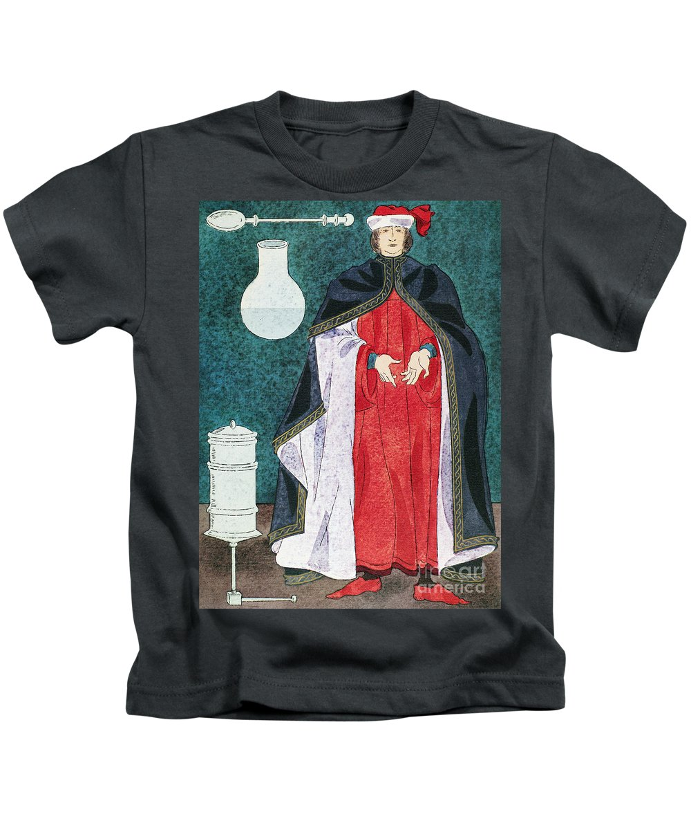 16th Century Kids T-Shirt featuring the photograph Physician, 16th Century by Granger
