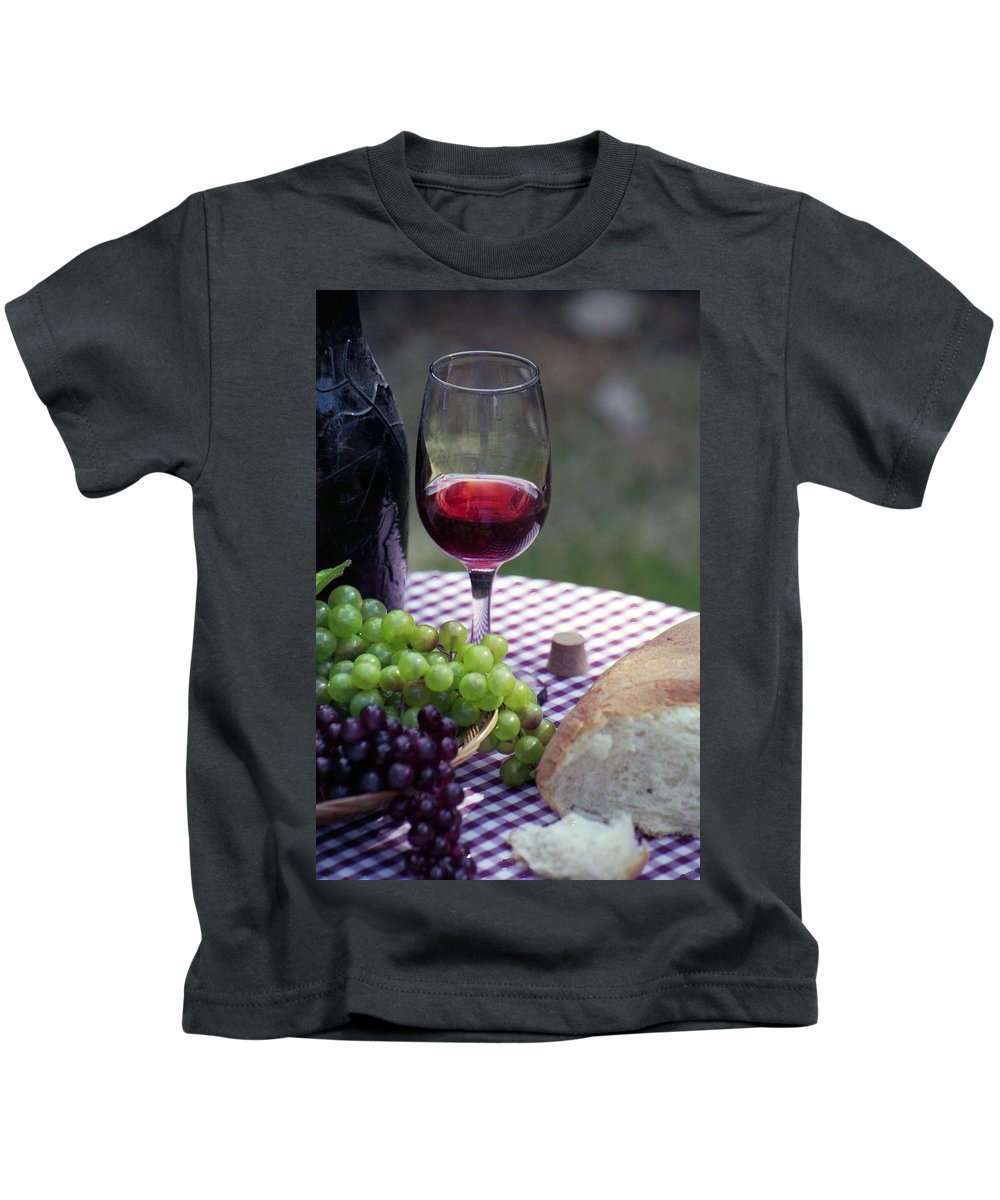 Picnic Kids T-Shirt featuring the photograph Picnic In The Park by Pamela Critchlow