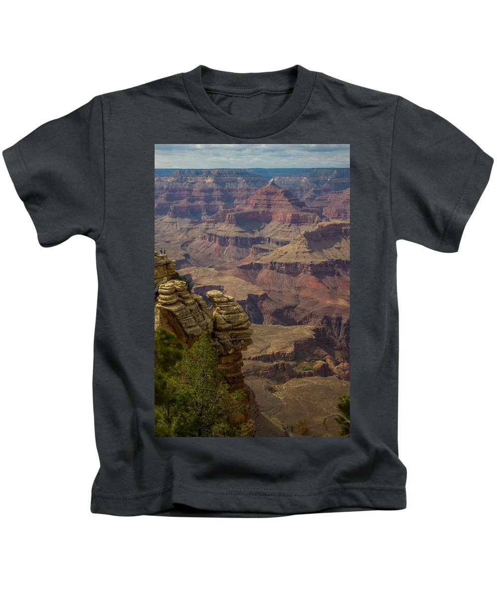 Sunrise Kids T-Shirt featuring the photograph Picturesque View Of The Grand Canyon by Kathleen Odenthal