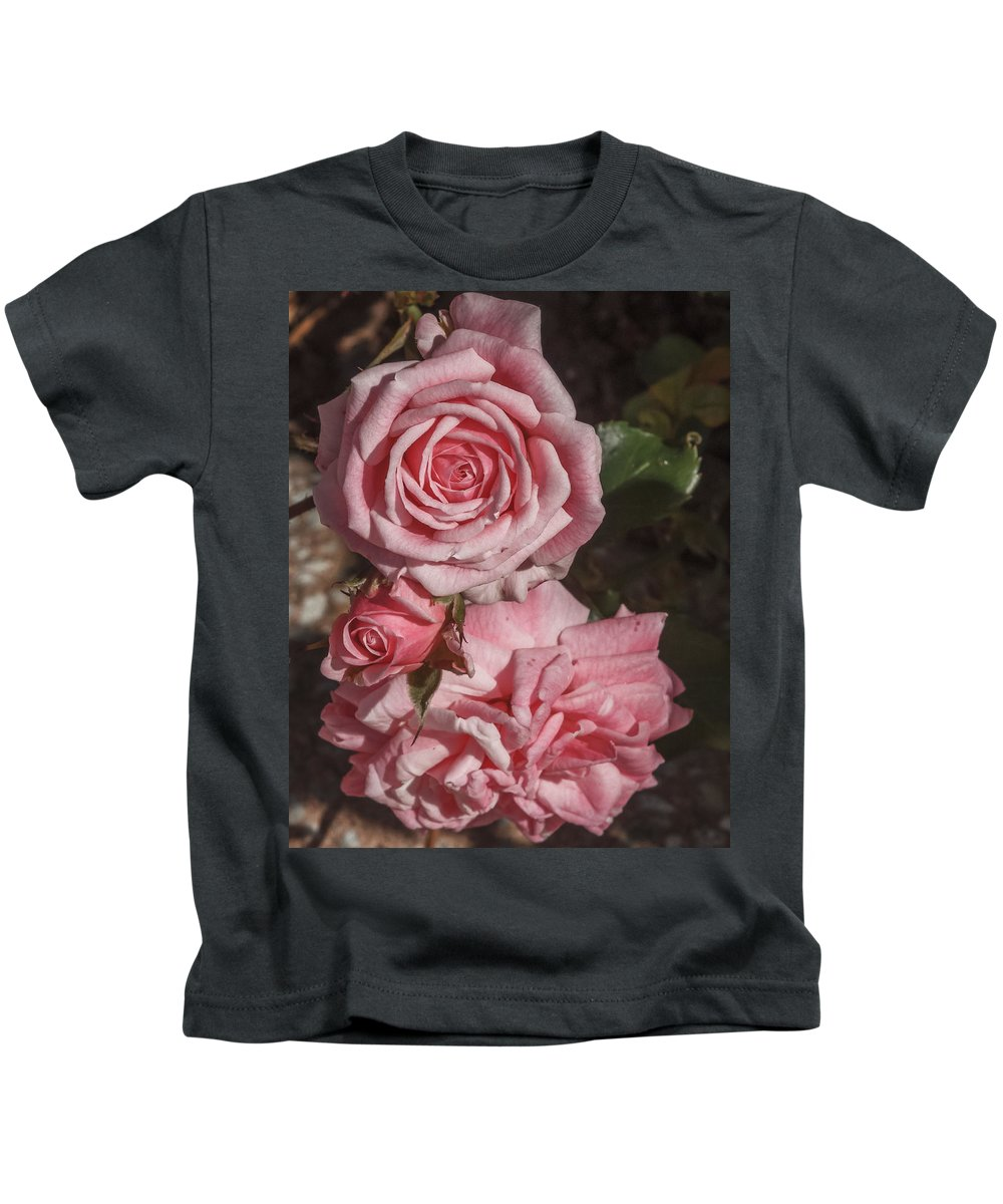 Florida Kids T-Shirt featuring the photograph Pink Roses by Jane Luxton