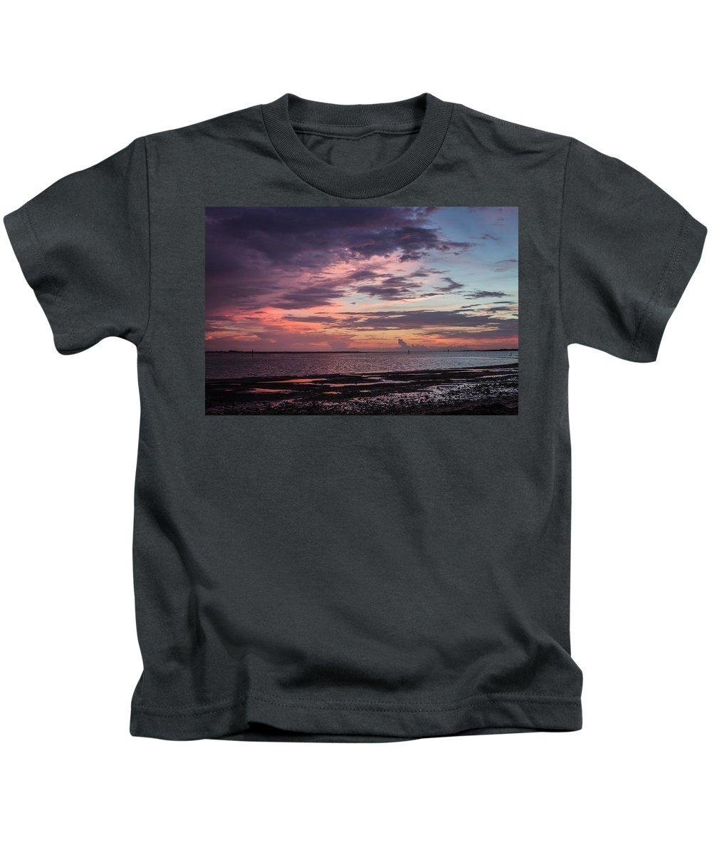Dunedin Causeway Kids T-Shirt featuring the photograph Pink Sky by Jane Luxton
