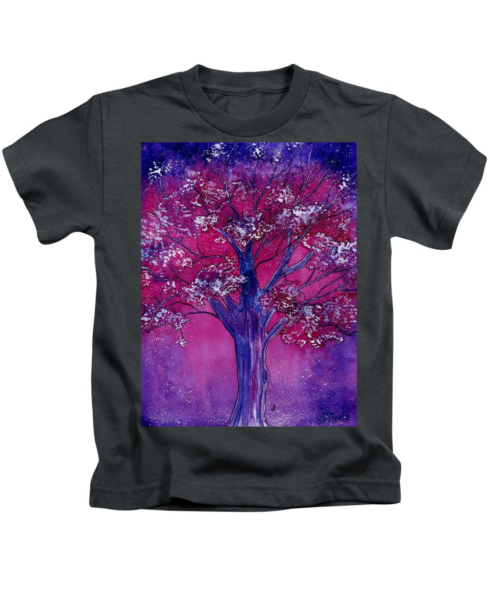 Watercolor Kids T-Shirt featuring the painting Pink Spring Awakening by Brenda Owen