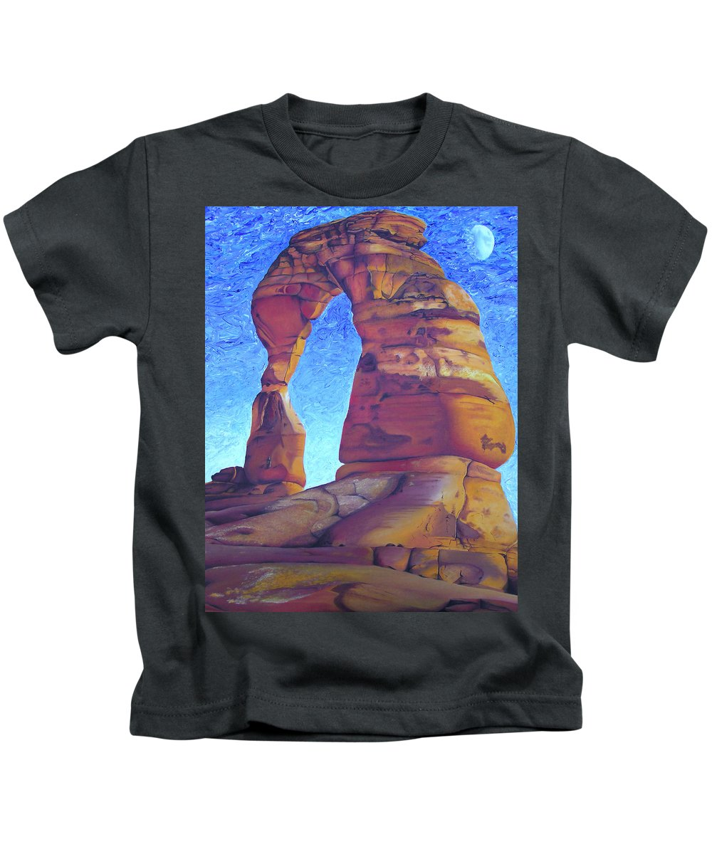 Moab Kids T-Shirt featuring the painting Place Of Power by Joshua Morton