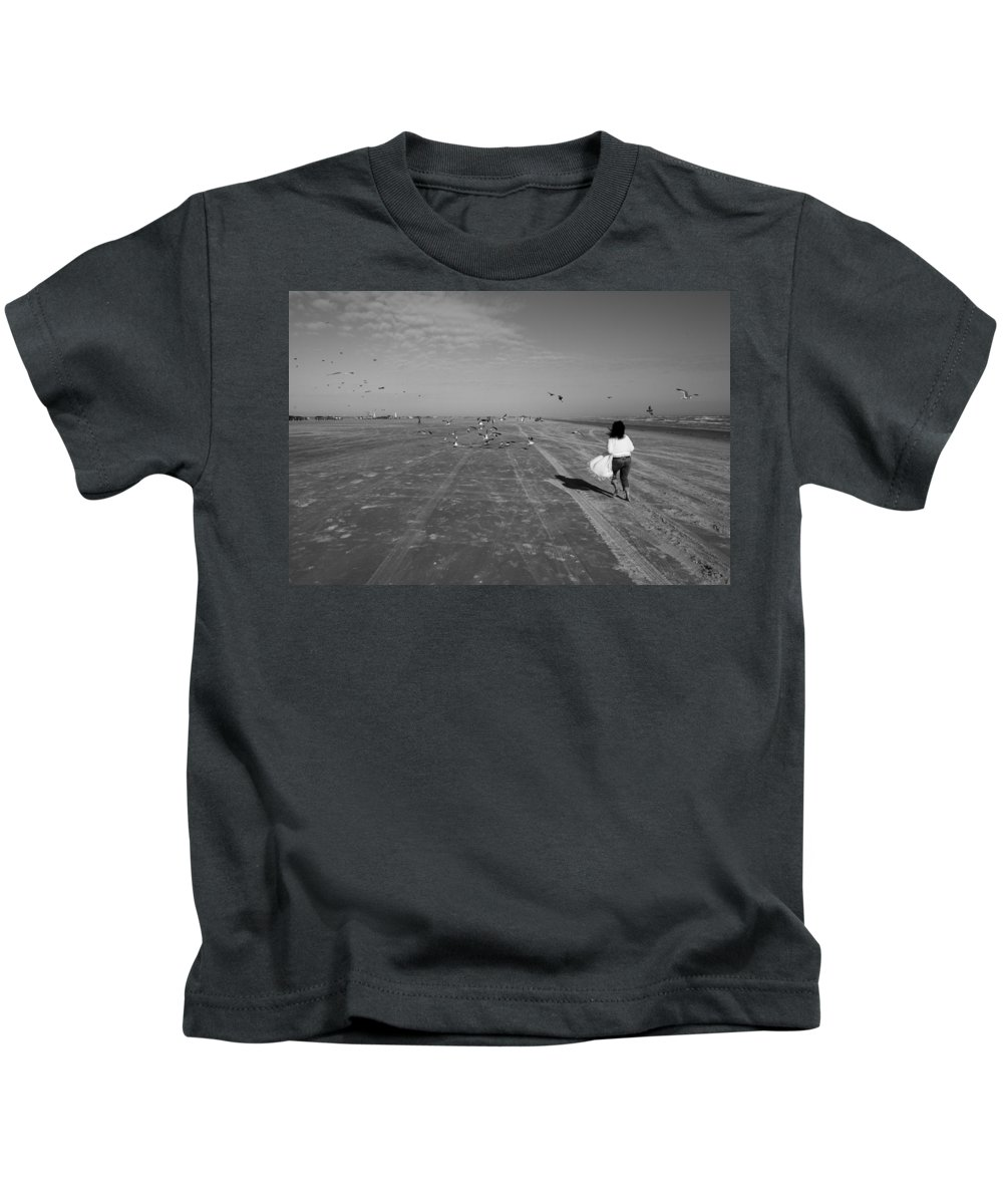 Beach Kids T-Shirt featuring the photograph Playful by Hineline Designs