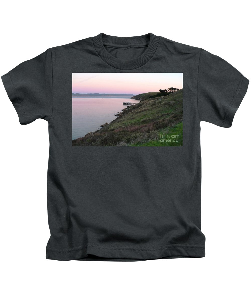California Kids T-Shirt featuring the photograph Point Reyes Sunset by Carol Groenen