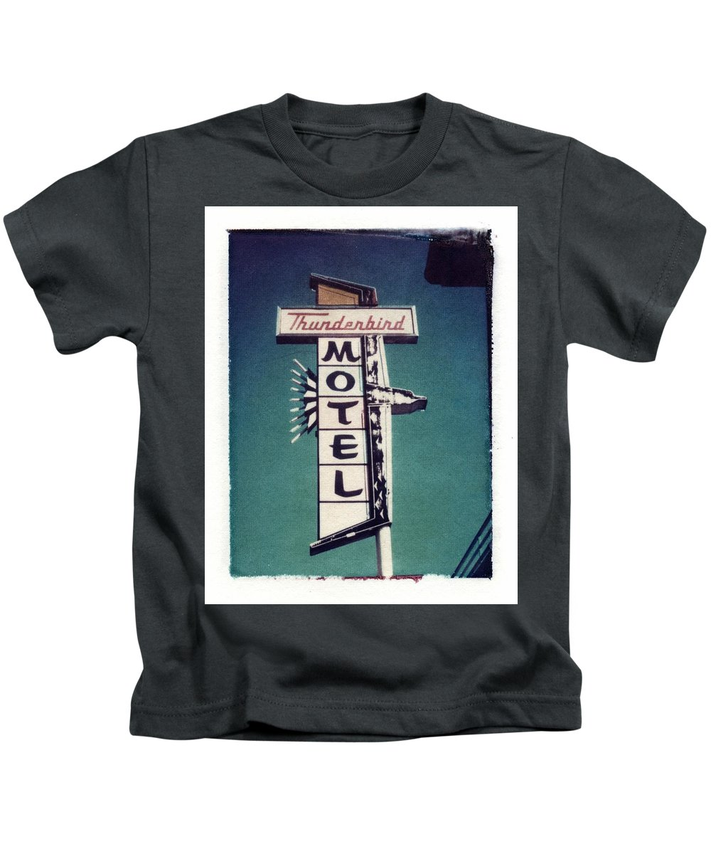 Motel Kids T-Shirt featuring the photograph Polaroid Transfer Motel by Jane Linders