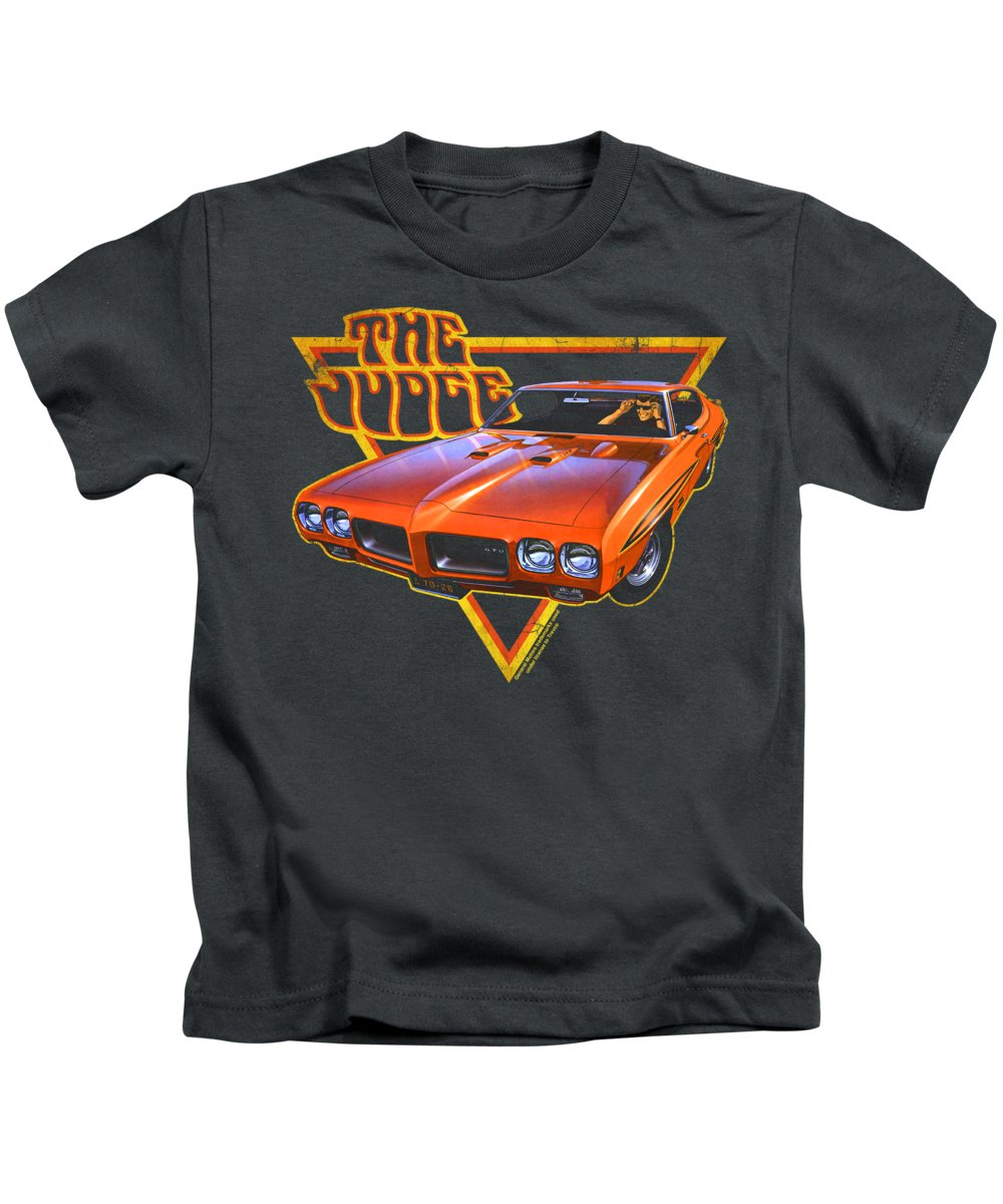 Kids T-Shirt featuring the digital art Pontiac - Judged by Brand A