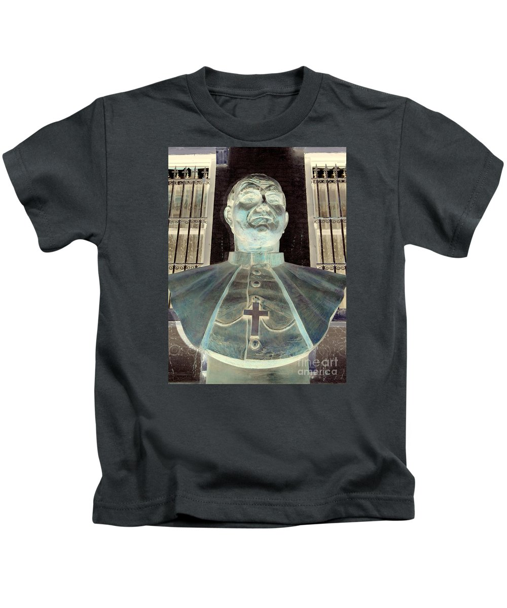 Pop Art Kids T-Shirt featuring the photograph Pope John Paul The Second by Ed Weidman