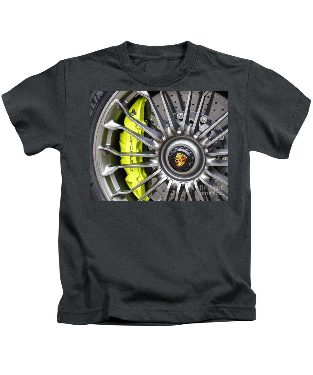 Porsche Kids T-Shirt featuring the photograph Porsche 918 Wheel by Dennis Hedberg