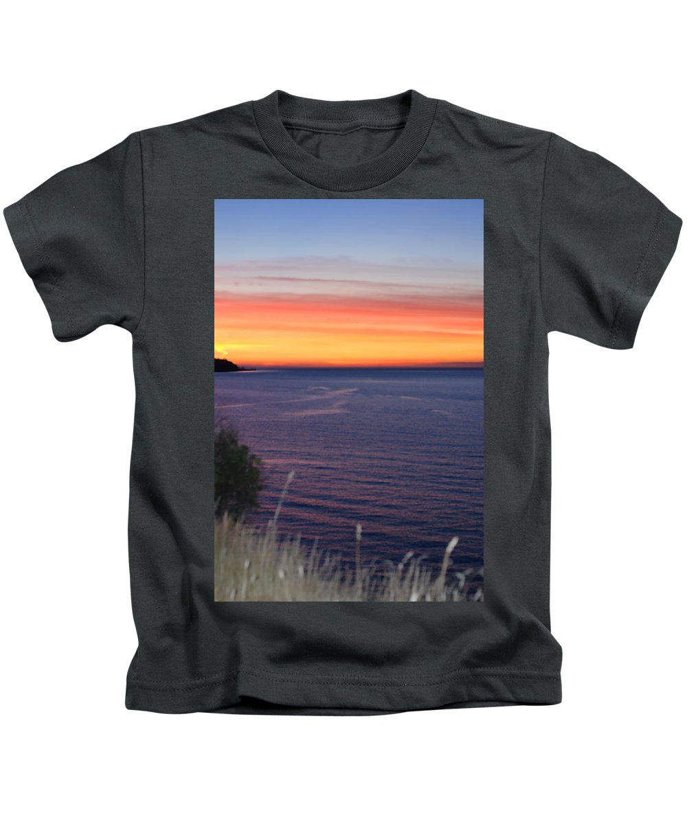 Sunset Kids T-Shirt featuring the photograph Port Angeles Sunset by Connie Fox