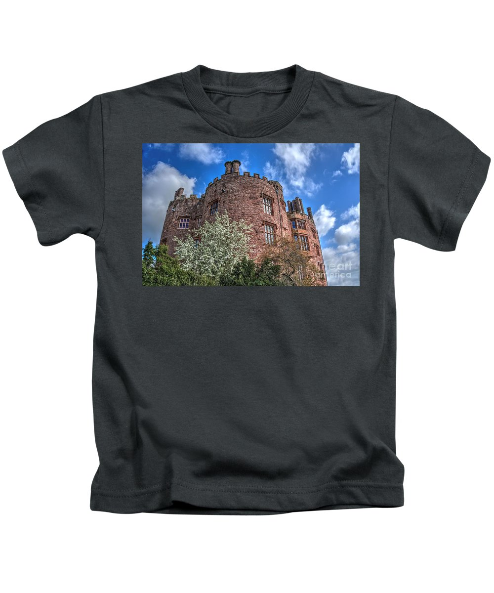 Powis Castle Kids T-Shirt featuring the photograph Powis Castle by Mickey At Rawshutterbug