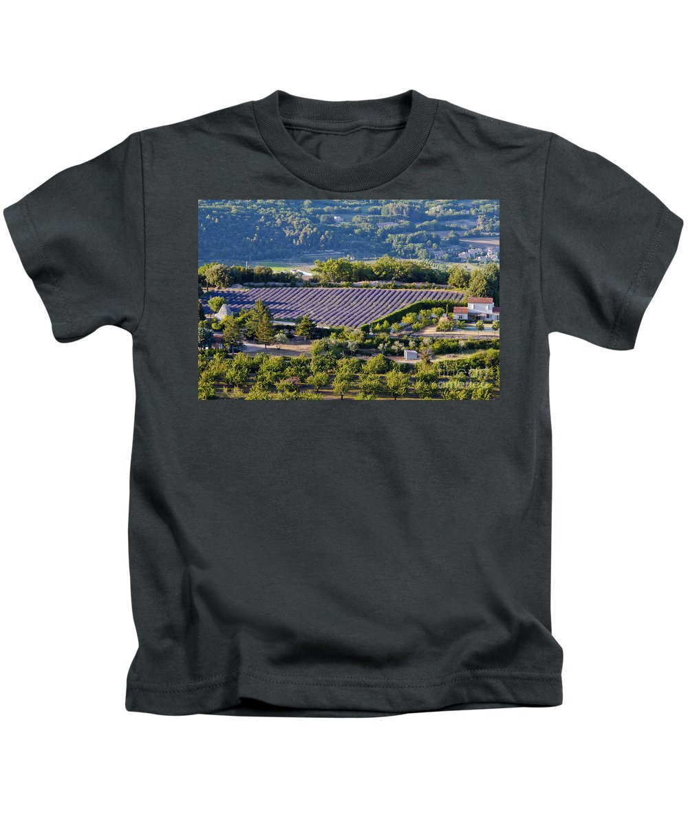 Provence Kids T-Shirt featuring the photograph Provence Farmland by Bob Phillips