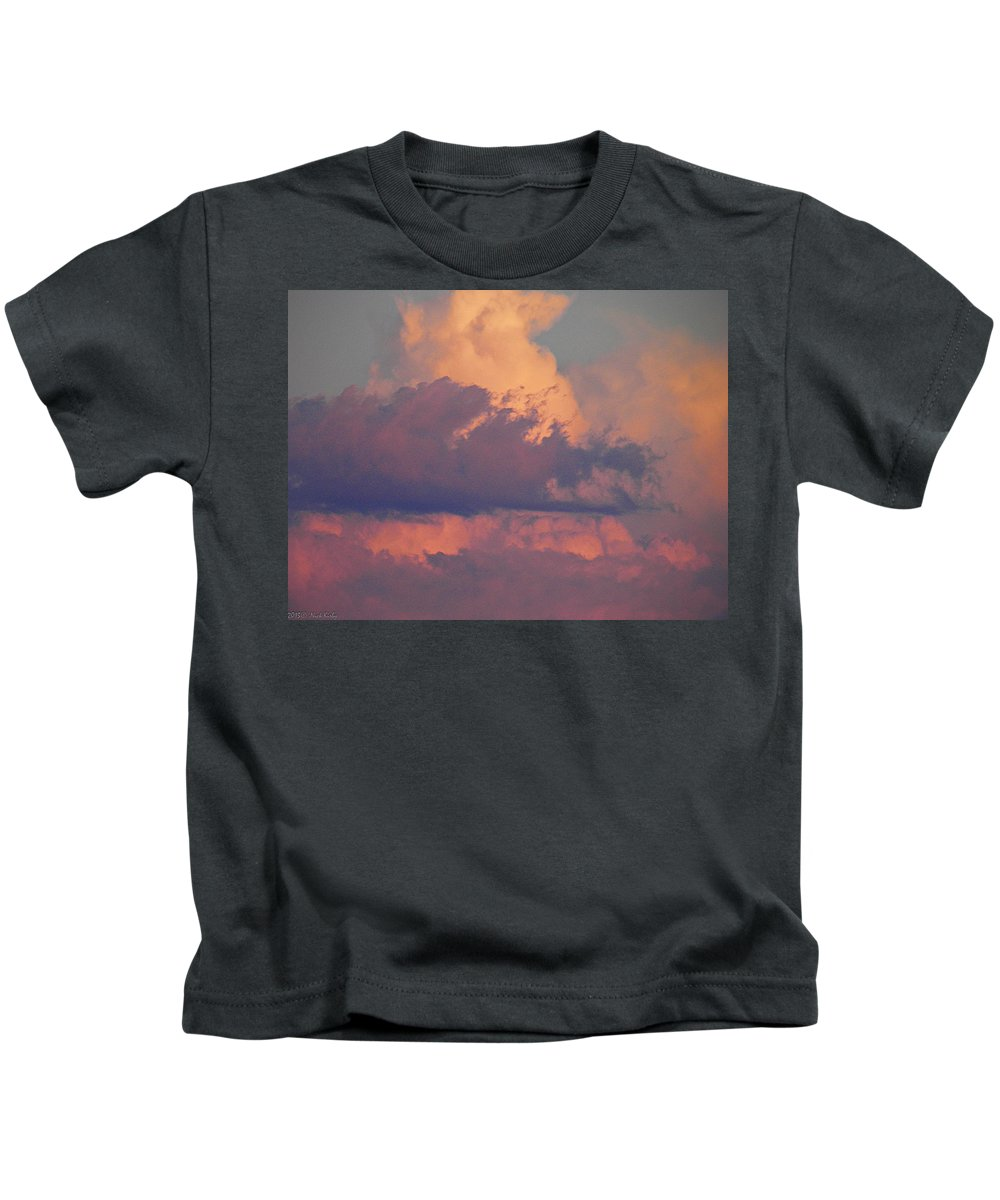 Clouds Kids T-Shirt featuring the photograph Purple Heavens by Nick Kirby