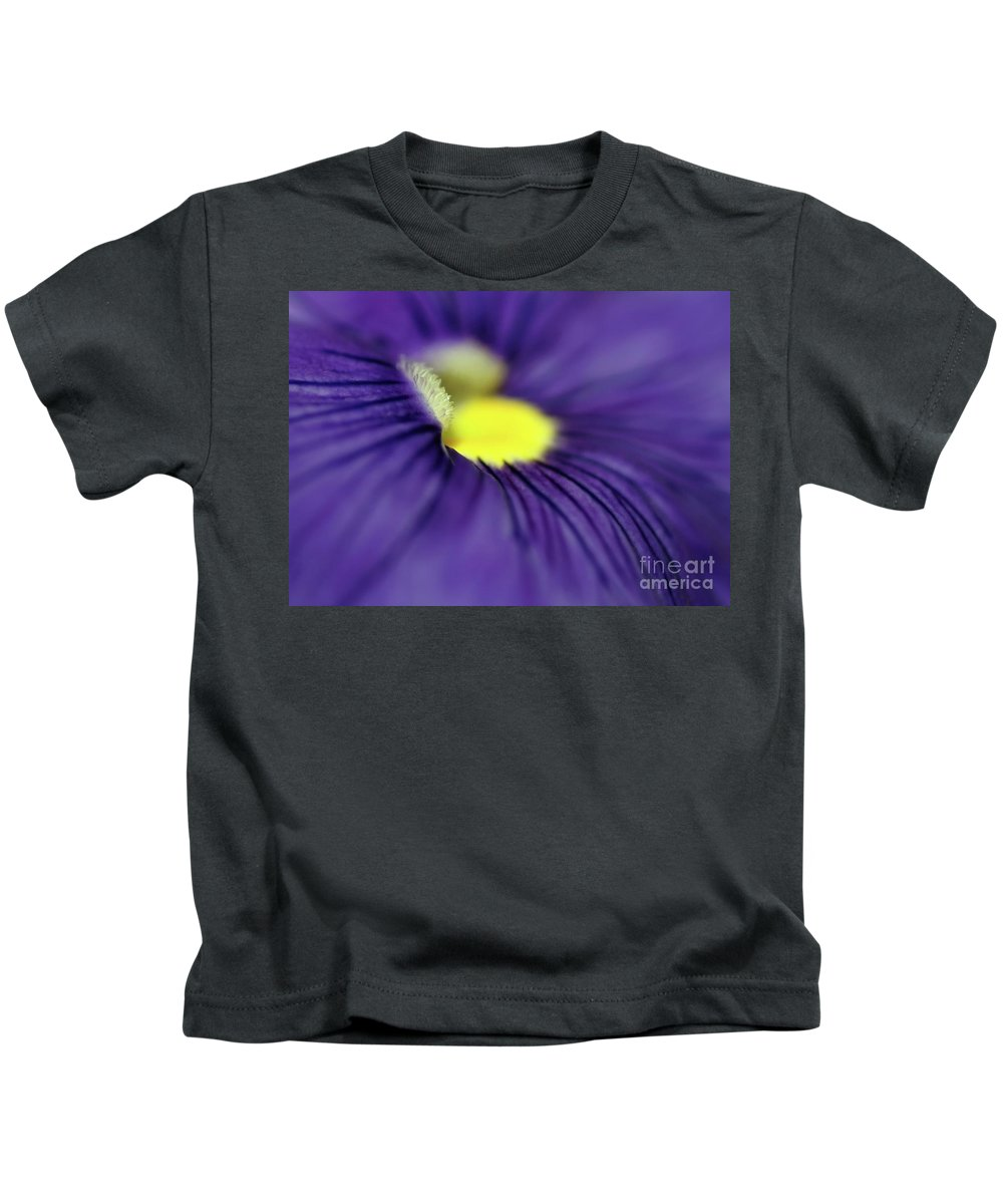 Pansy Kids T-Shirt featuring the photograph Purple Pansy by Sabrina L Ryan