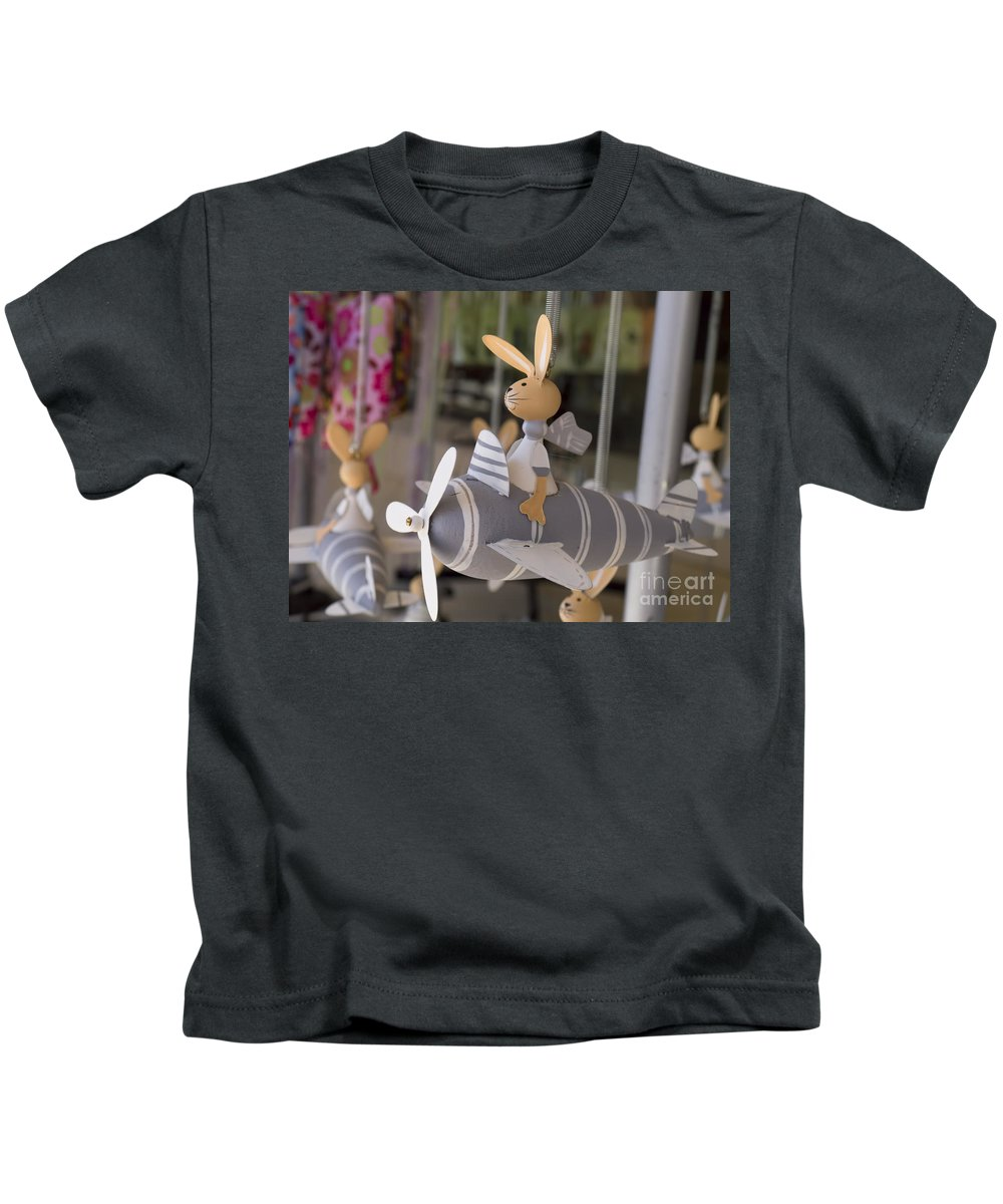 Rabbits Kids T-Shirt featuring the photograph Rabbits Can Fly by Gillian Singleton