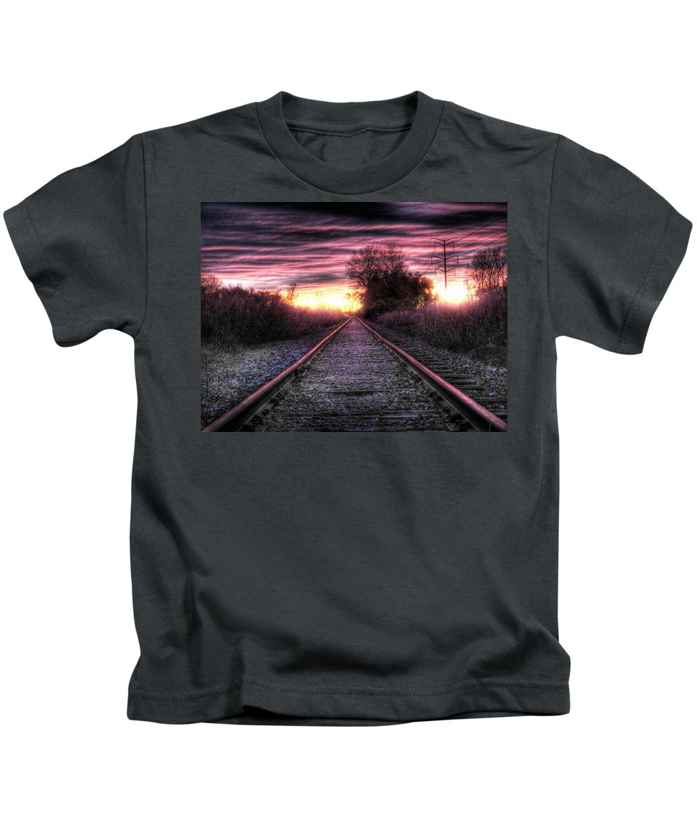 Photography Kids T-Shirt featuring the photograph Radiant Orchid by Jane Linders