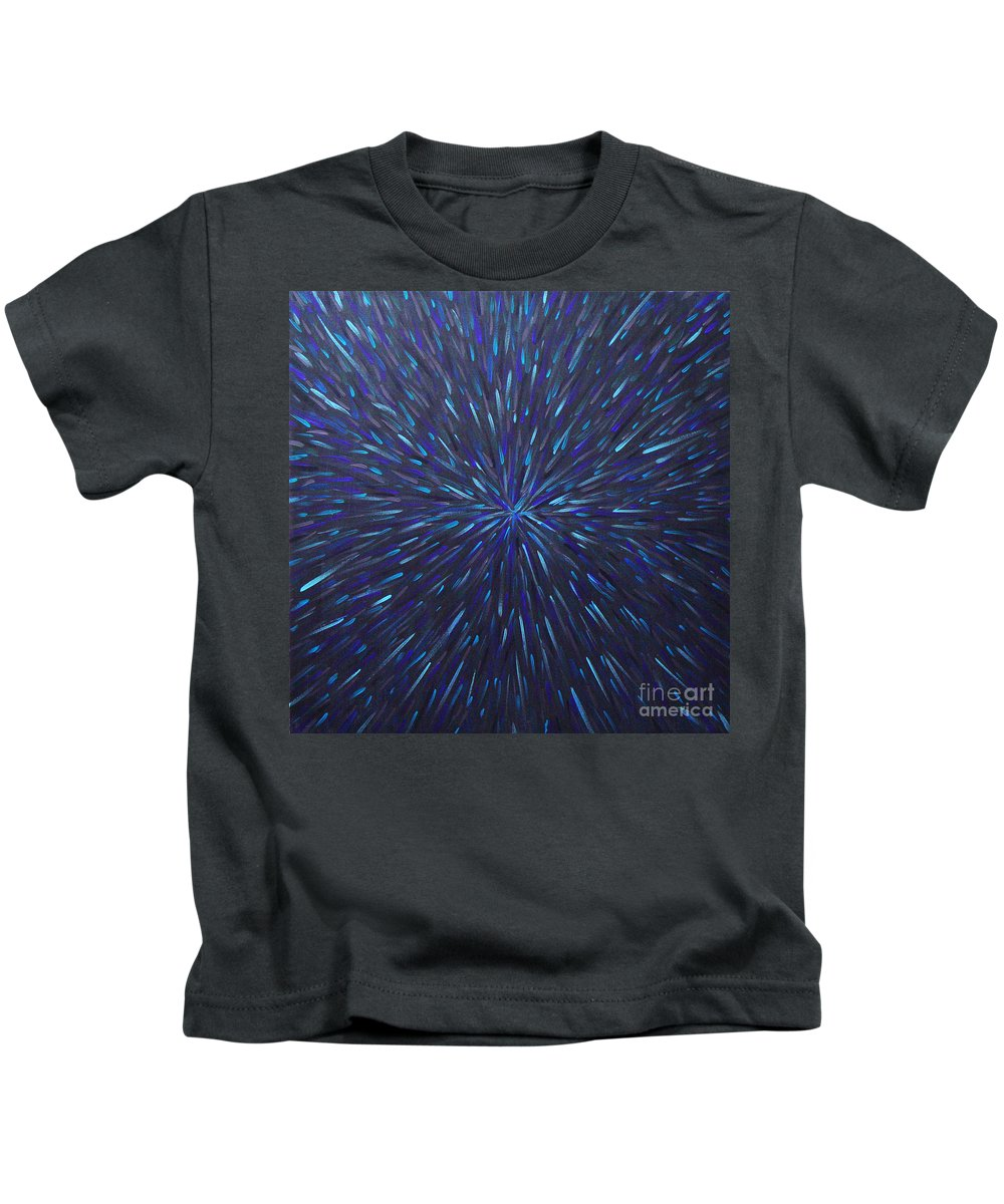 Abstract Kids T-Shirt featuring the painting Radiation Grey by Dean Triolo