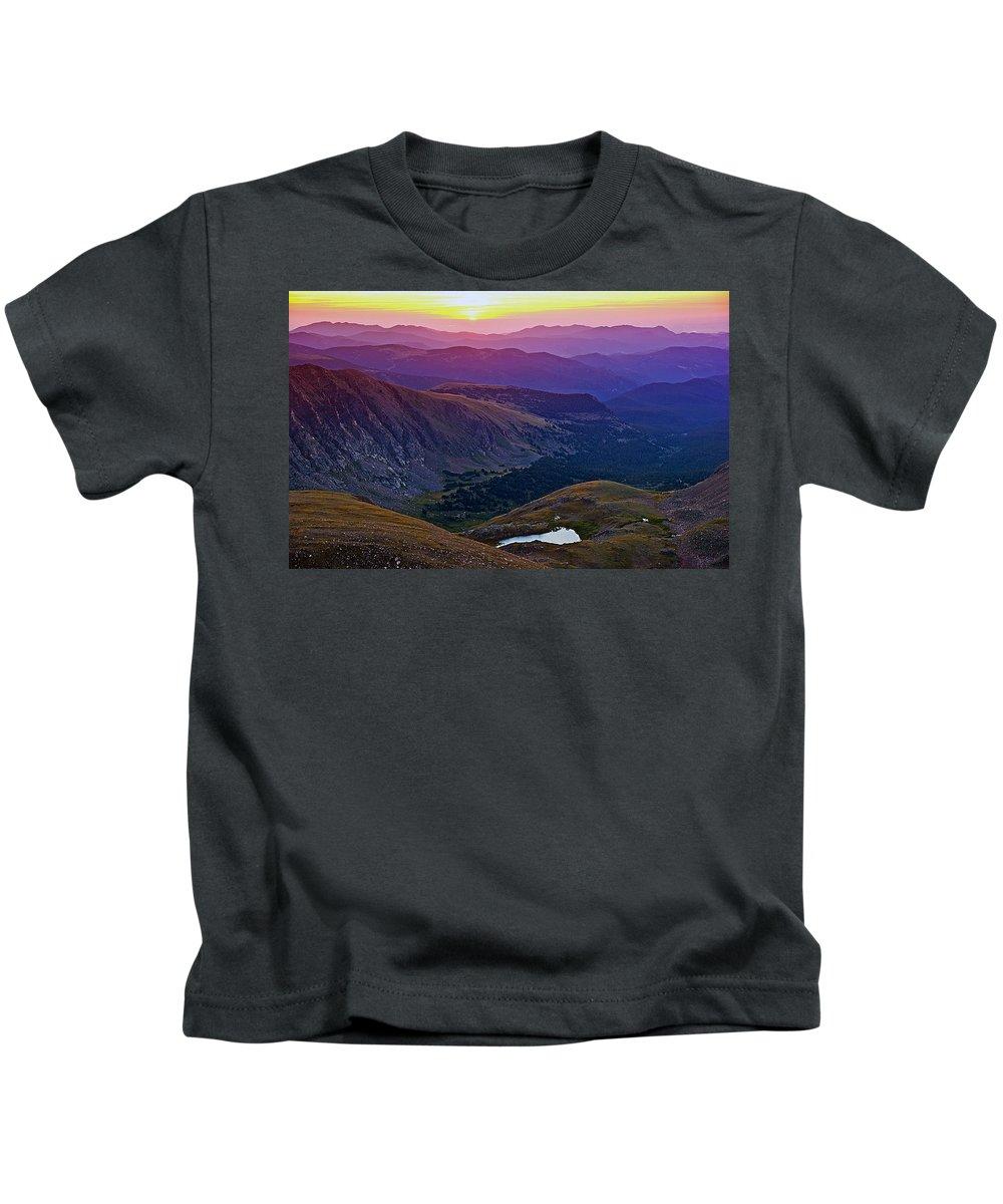 Daybreak Kids T-Shirt featuring the photograph Rainbow Sunrise by Brian Kerls