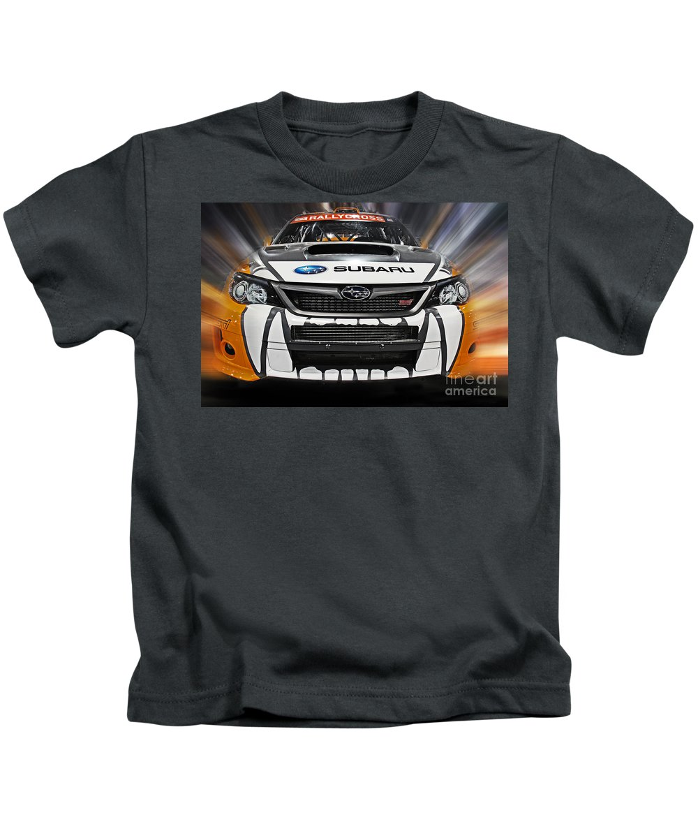 Car Kids T-Shirt featuring the photograph Rally Cross by Tom Gari Gallery-Three-Photography