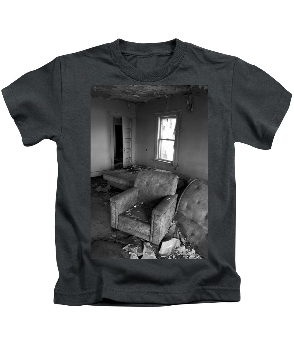 Chair Kids T-Shirt featuring the photograph Recline Johnny by The Artist Project