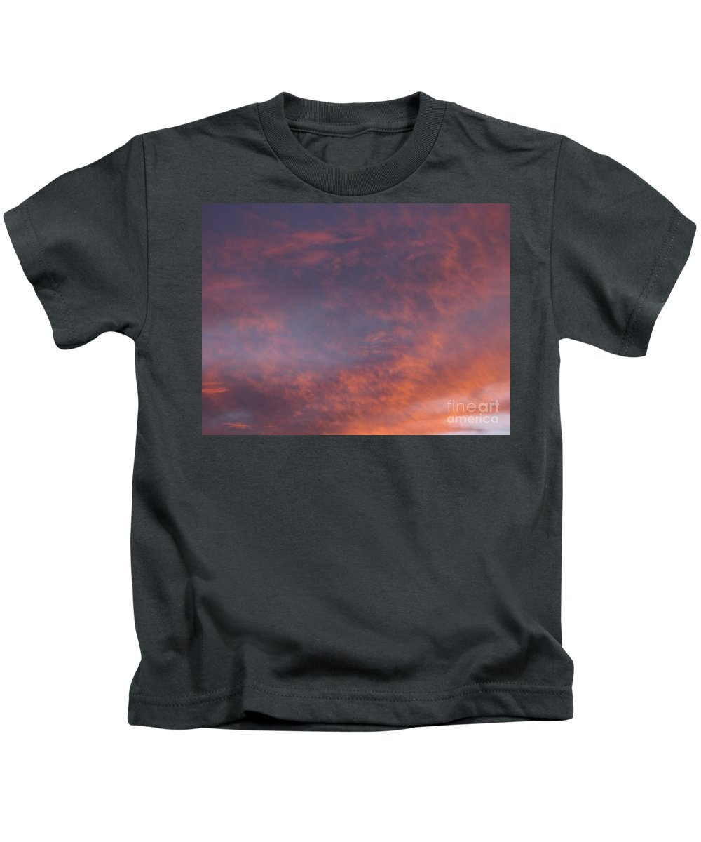 Sunset Kids T-Shirt featuring the photograph Red Clouds At Sunset by Jussta Jussta