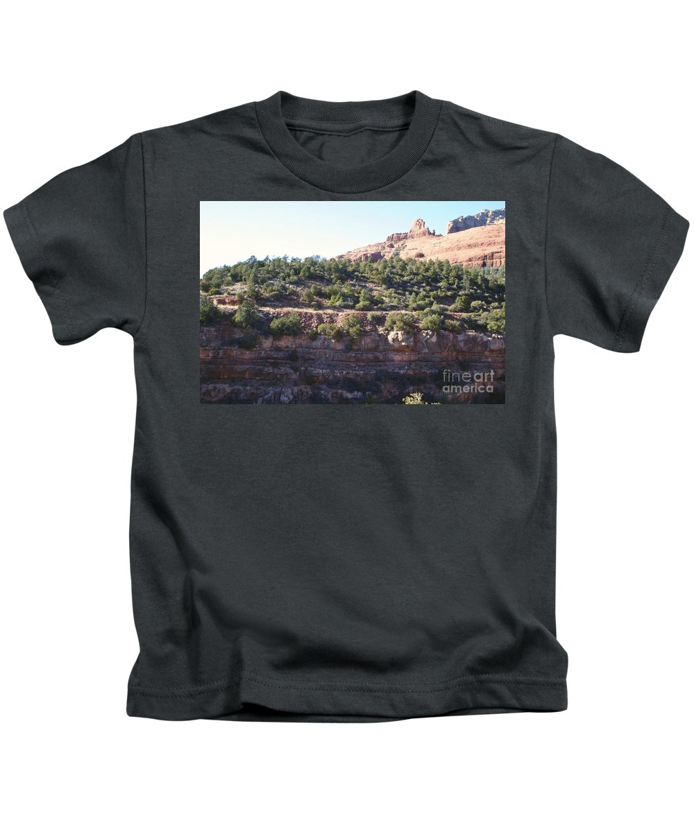 Arizona Kids T-Shirt featuring the photograph Red Rock Canyon In Arizona by Christy Gendalia