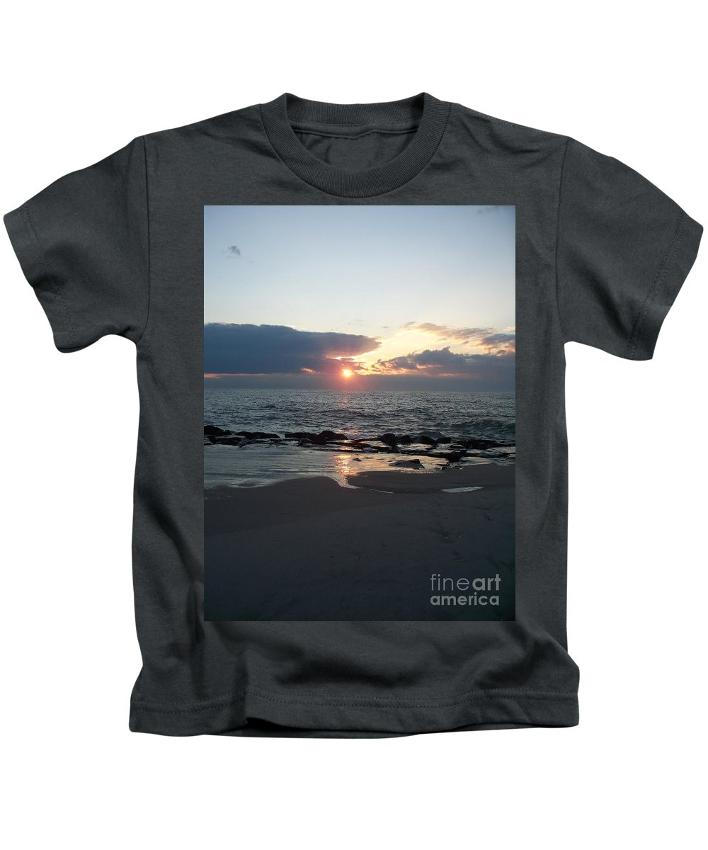Reflections Kids T-Shirt featuring the painting Reflections Cape May Point by Eric Schiabor