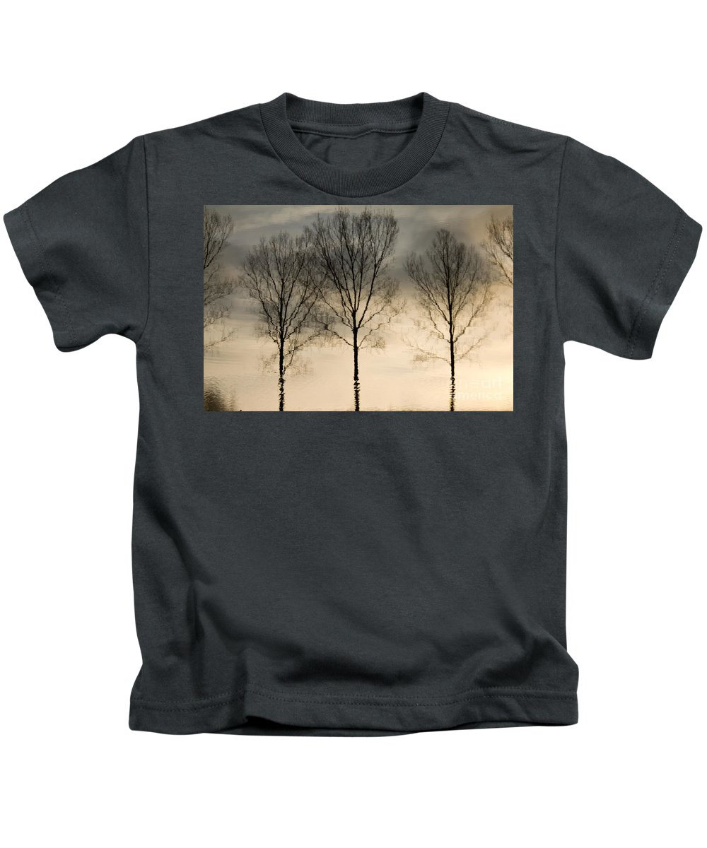 Landscape Kids T-Shirt featuring the photograph Reflections In Grey II by Adriana Zoon
