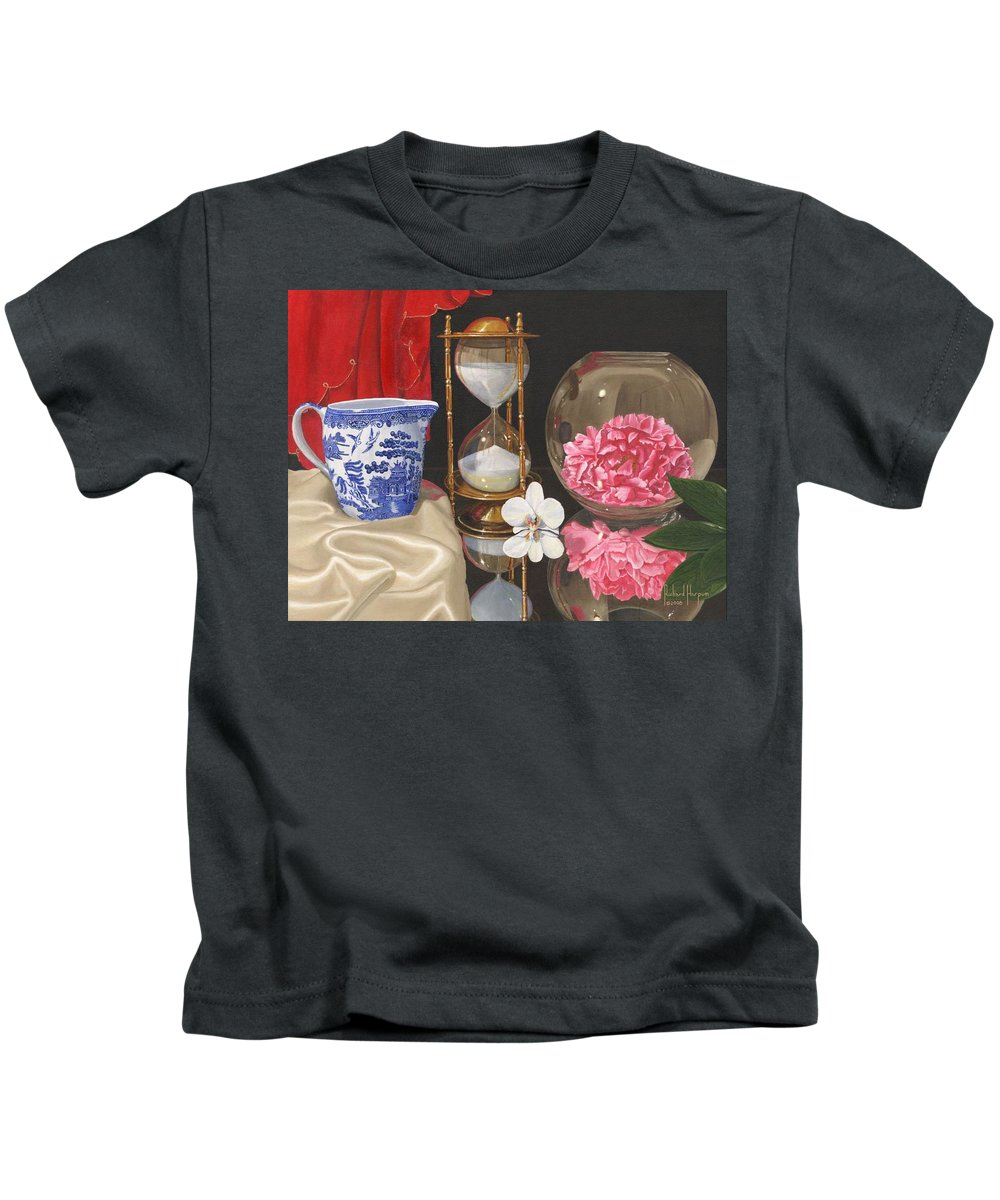 Still Life Kids T-Shirt featuring the painting Reflections by Richard Harpum