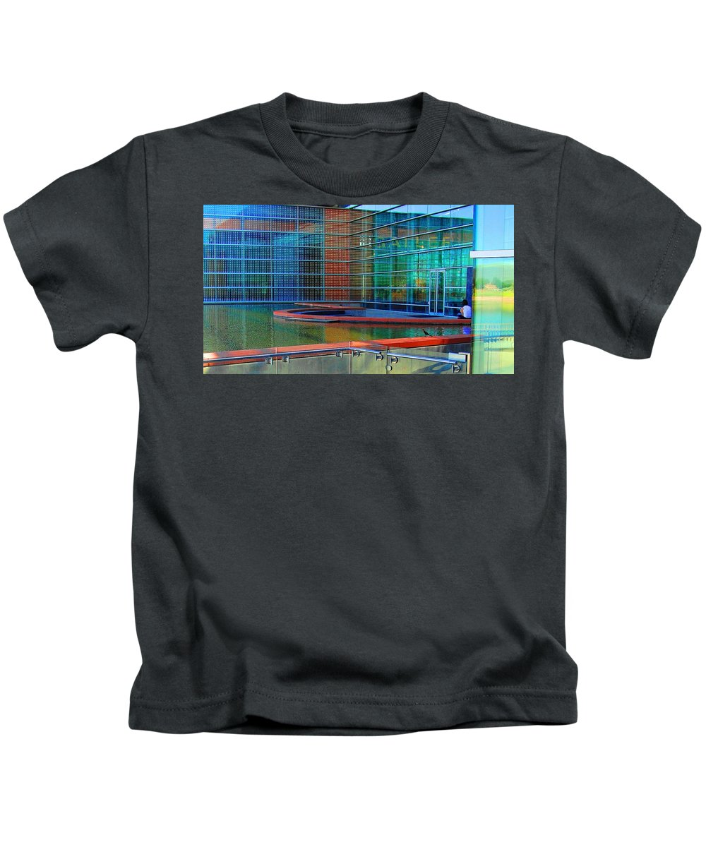Gallery Kids T-Shirt featuring the digital art Reflective Gallery by Natalie Ortiz