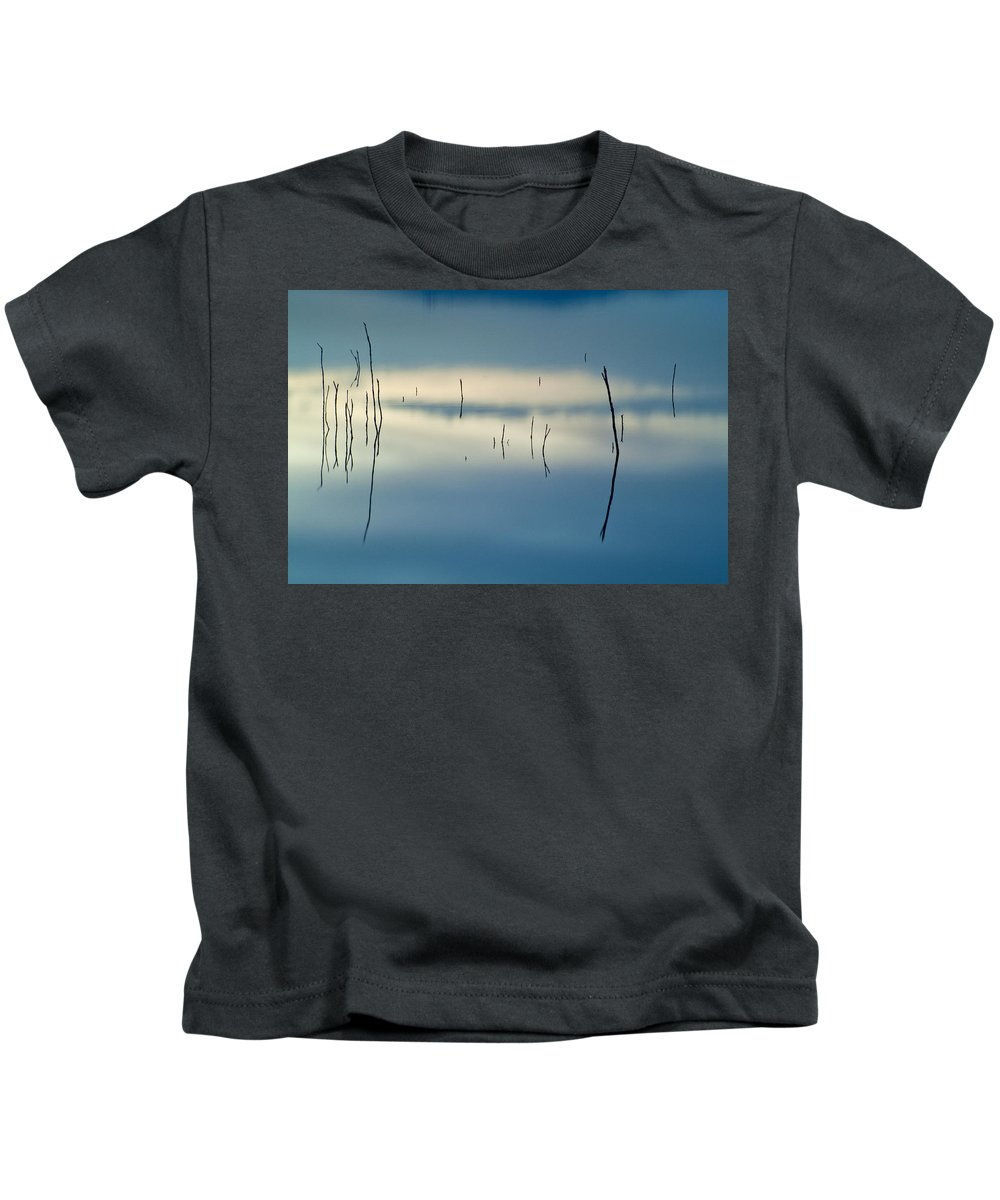 Sunset Kids T-Shirt featuring the photograph Blue Reflexions by Guido Montanes Castillo