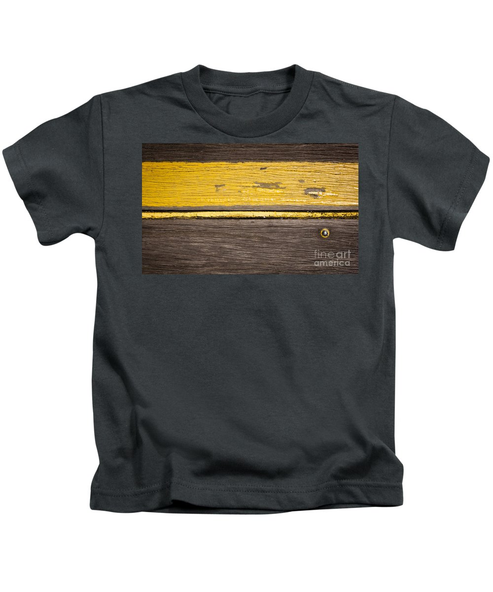 Wood Kids T-Shirt featuring the photograph Retro Wood Stripe by Tim Hester