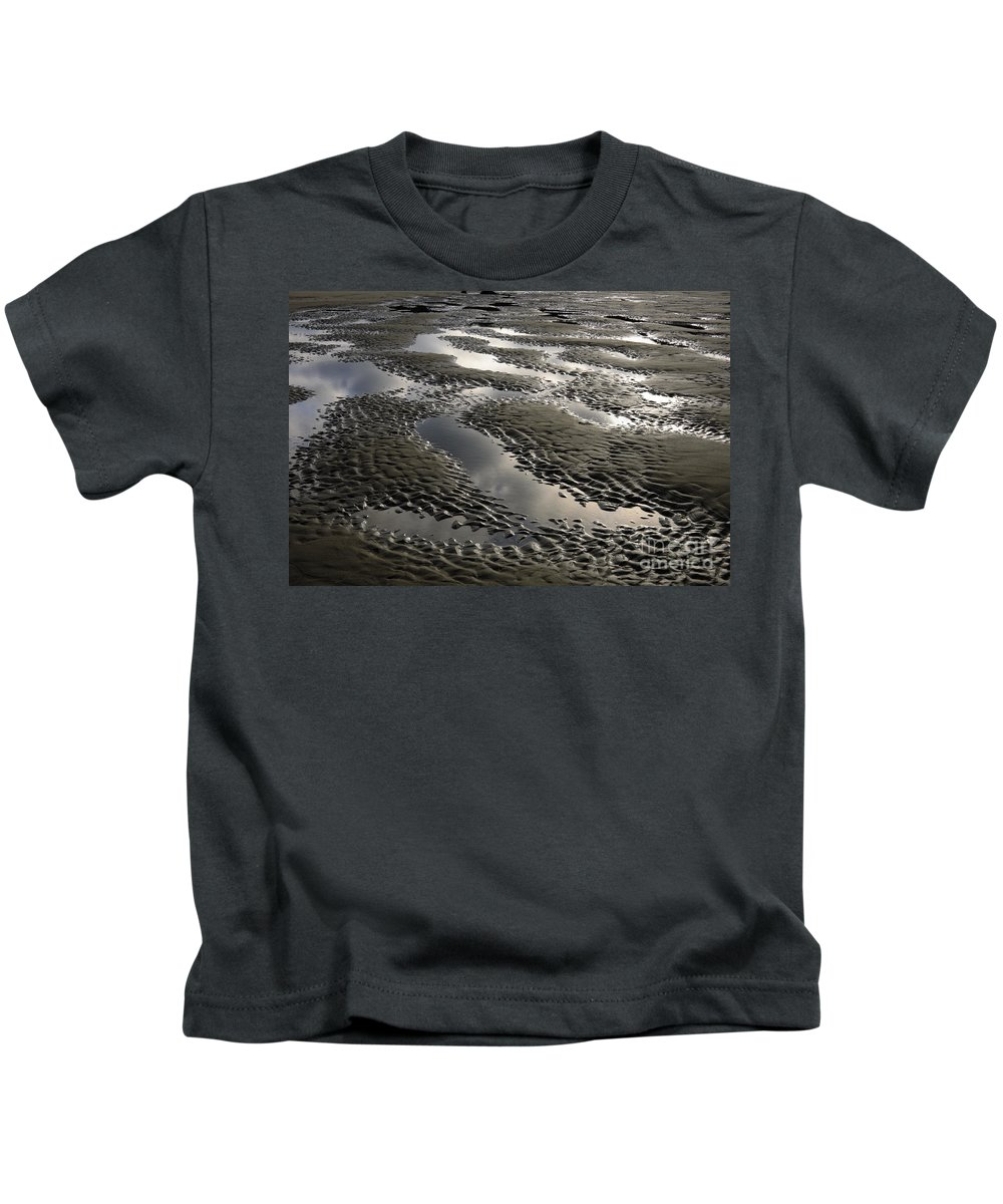 Bandon Kids T-Shirt featuring the photograph Rippled Sand by John Shaw