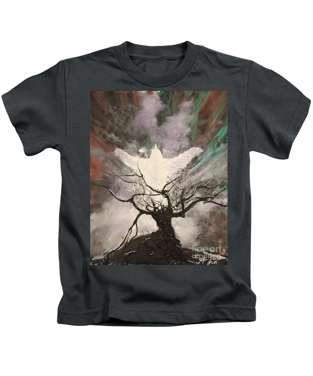 Impressionism Kids T-Shirt featuring the painting Rising From The Ash by Stefan Duncan